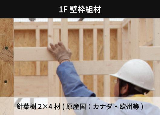 1F壁枠組材