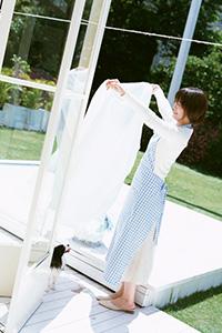 衣類を「洗う」→「干す」→「しまう」がスムーズに行えるUタイプ。