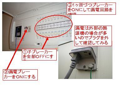 図解!漏電時に分電盤を復旧する方法