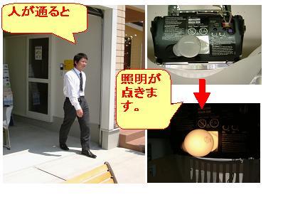 シャッター作動時以外でセンサーによるモーター照明の点灯を解除方法
