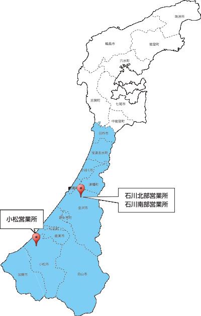 石川県施工エリア