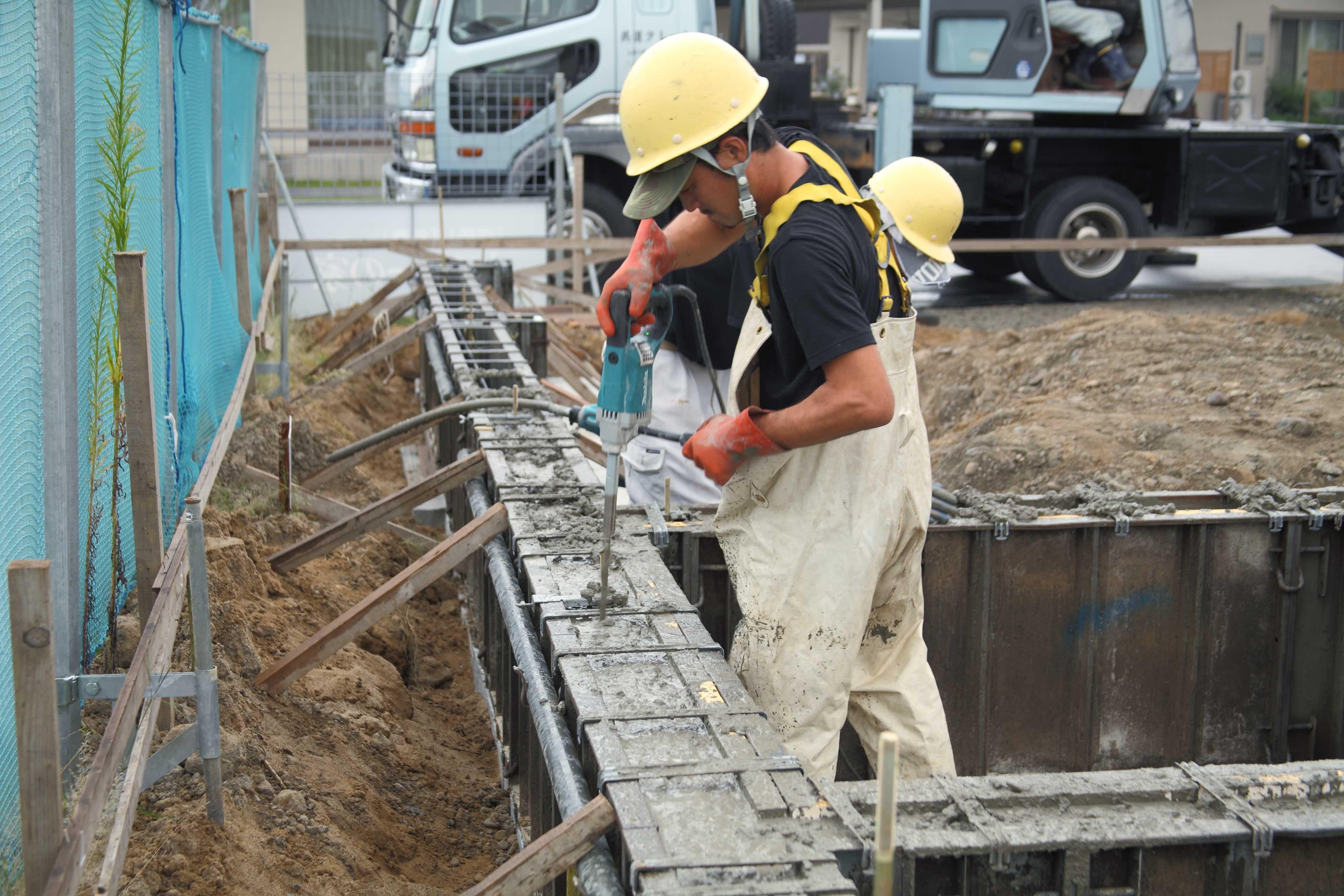 立上り型枠・基礎コンクリート打設