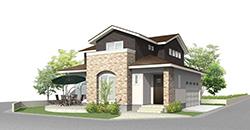 白を基調としたコーディネート、豊富な収納と家事ラク動線のある家