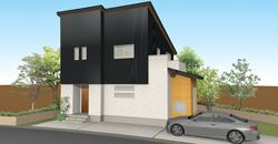 シックな外観&自然素材の内観。ヴィンテージスタイルの家。