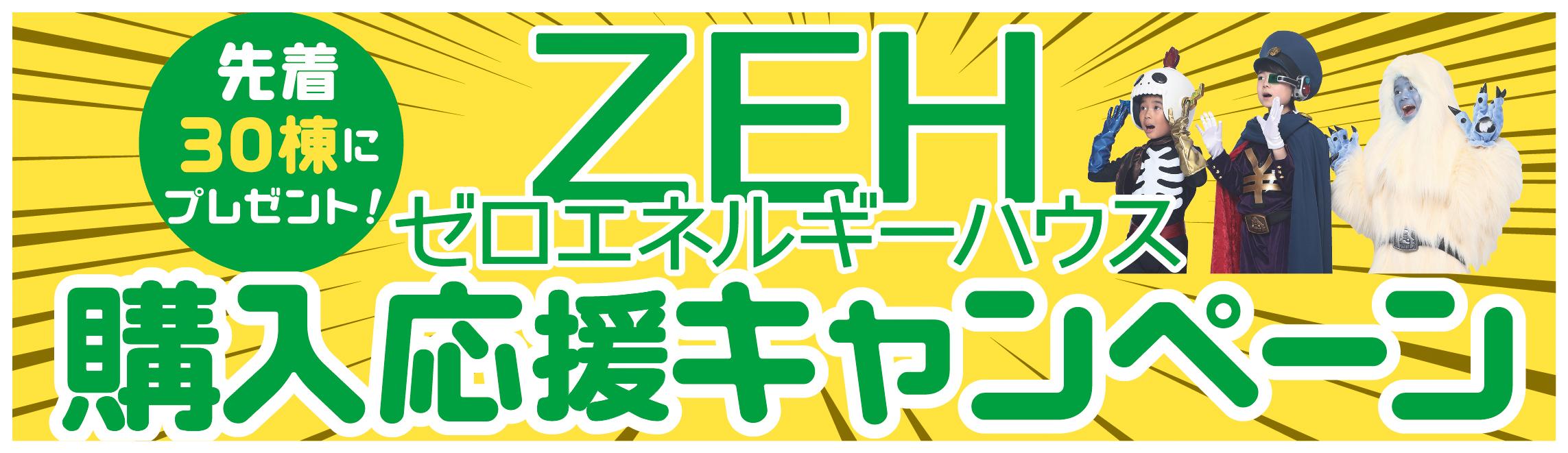 ZEH ゼロエネルギーハウス住宅購入応援