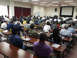 「取引先様・安全大会 (富山地区)」 を開催。現場作業の品質、安全管理を再確認しました。
