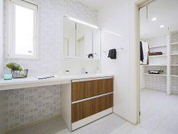 東区浜谷町モデルハウス 洗面室