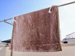 毛布や布団も洗濯機で洗おう